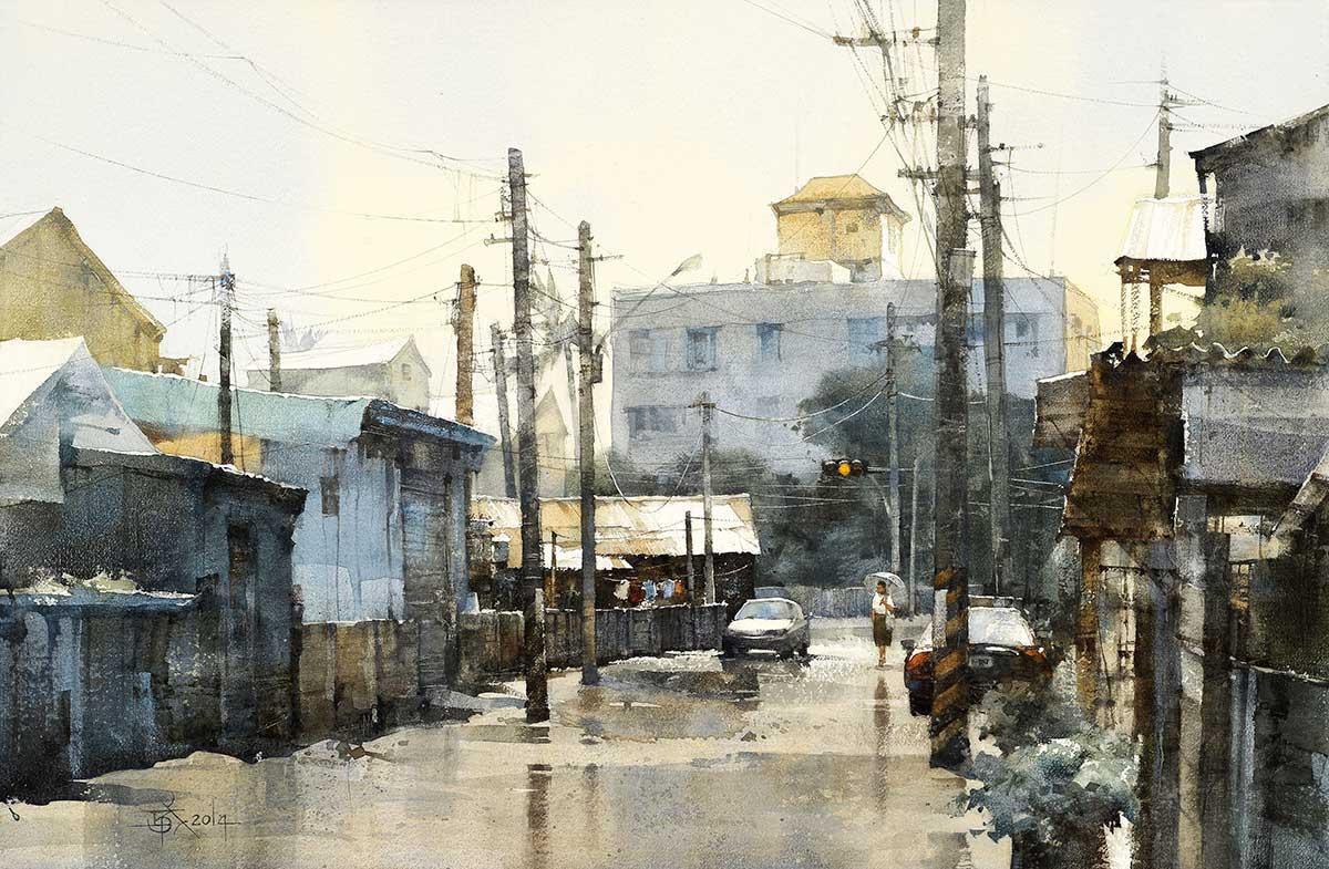 Chien Chung Wei waterolour