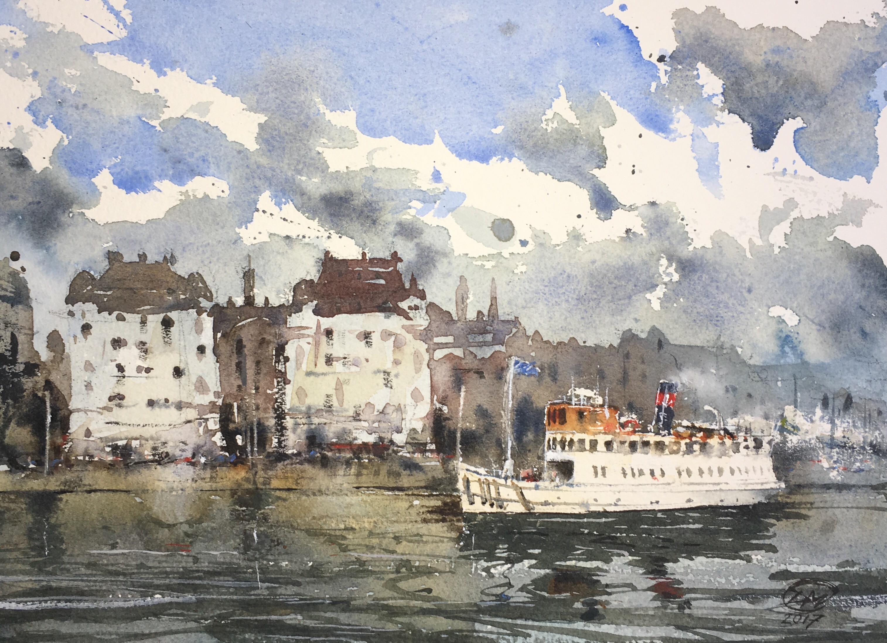 Watercolour of Strandvägen