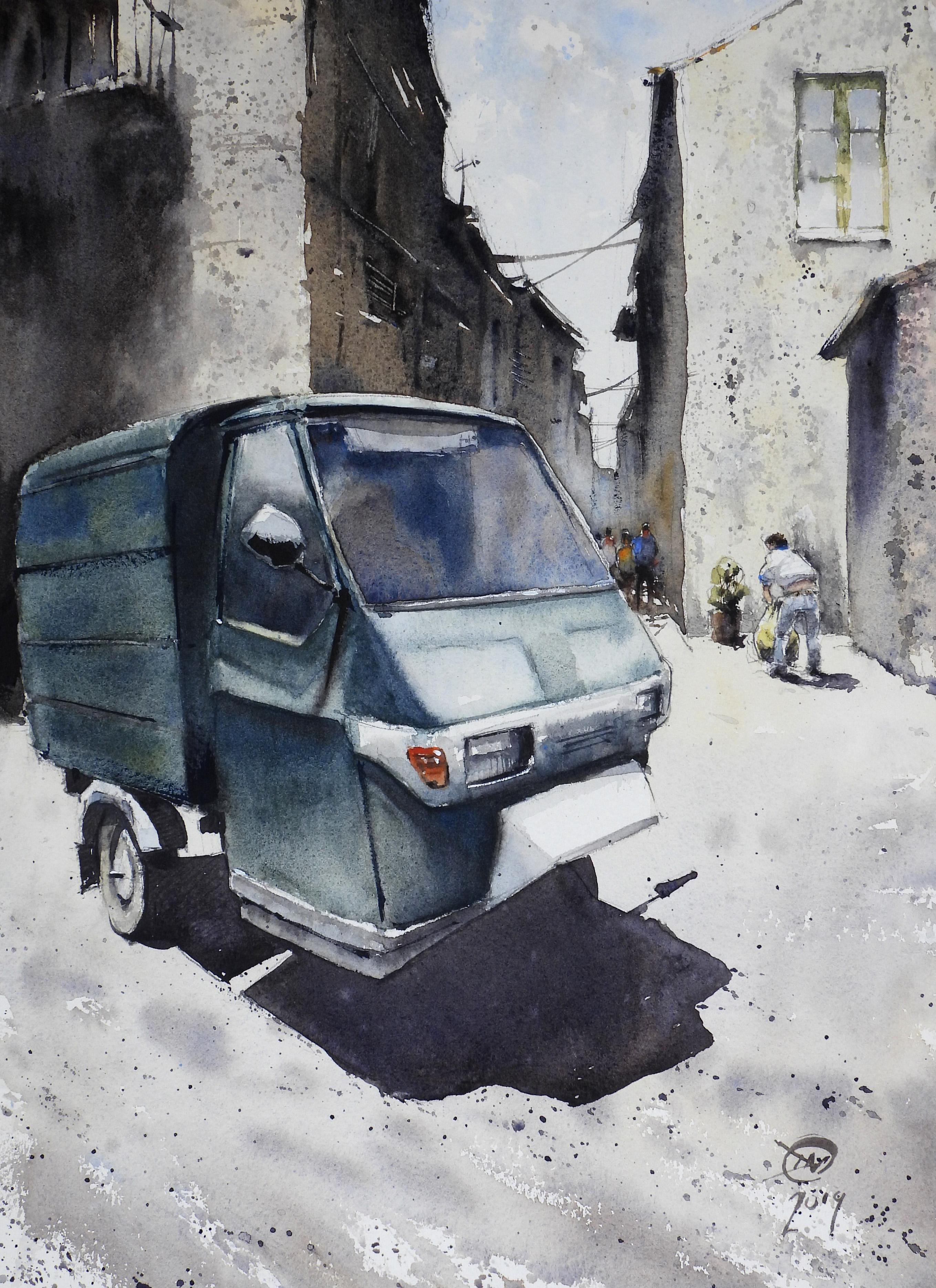 watercolour of Randazzo Sicily